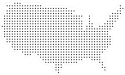 Dotted USA Map Sticker