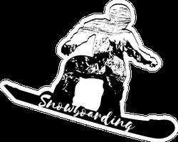Double Exposure Snowboarder Sticker