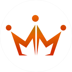Double M Crown Logo Sticker