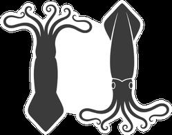 Double Squid Logo Sticker