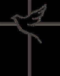 Dove And Cross Sticker