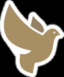 Dove Logo In Gold Sticker