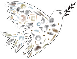 Dove Of Peace Carrying A Branch Of The World Sticker