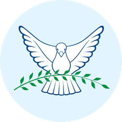 Dove Of Peace Flying Pigeon On Blue Sticker