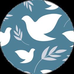 Dove Of Peace International Day Of Peace Pattern Sticker