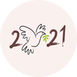Dove With An Olive Branch 2021 Sign Of Peace Sticker