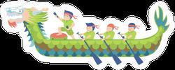 Dragon Boat Racing Cartoon Sticker