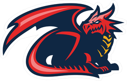Dragon Mascot Sticker