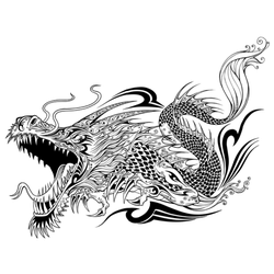 Dragon Sketch Tattoo Sticker
