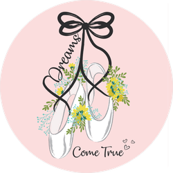 Dreams Come True Ballerina Shoes Sticker