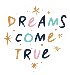 Dreams Come True Boho Sticker