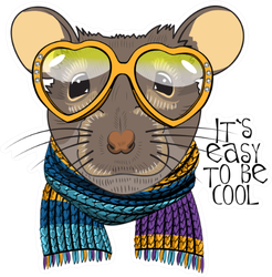 "Dressed Rat ""It's Easy To Be Cool"" Sticker"