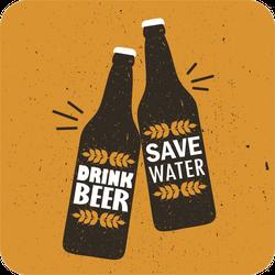 Drink Beer Save Water Sticker