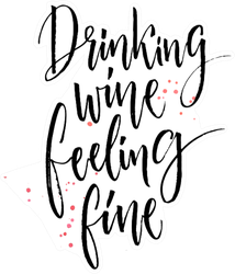 Drinking Wine Feeling Fine Calligraphy Saying Sticker