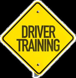Driver Training Sign Sticker