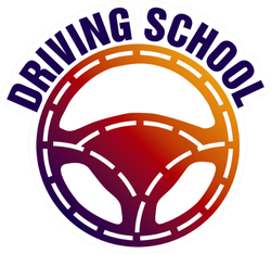 Driving School, Car Wheel And Mechanic Sticker