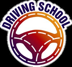 Driving School, Car Wheel And Mechanic Sticker