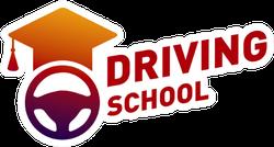 Driving School Graduation Cap Sticker