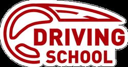 Driving School Red Logo Sticker