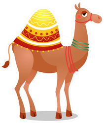 Dromedary Camel With A Saddle Sticker