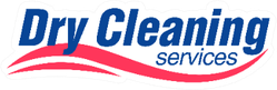 Dry Cleaning Services In Navy Blue & Red Sticker