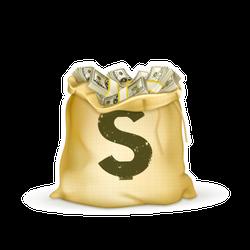Sack of Money Sticker