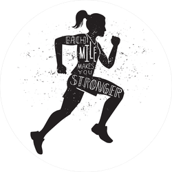 Each Mile Makes You Stronger Running Sticker