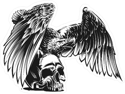 Eagle And Skull Sticker