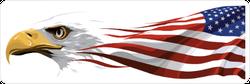 Eagle and USA Flag Sticker