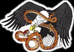 Eagle Fighting A Snake Sticker