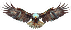 Eagle Flying at Your Face Sticker