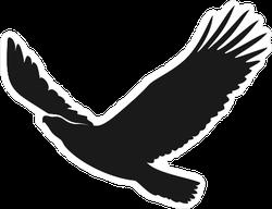 Eagle Flying Up Sticker