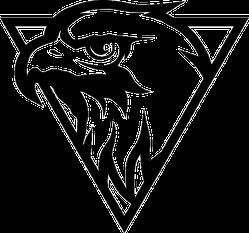 Eagle Head Logo Sticker