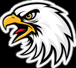 Eagle Head Sports Mascot Sticker