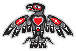 Eagle In Native Art Style Sticker