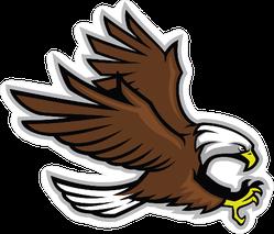 Eagle Mascot Style Sticker