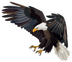 Eagle Vector Drawing Sticker