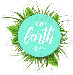 Earth Day Background Sticker