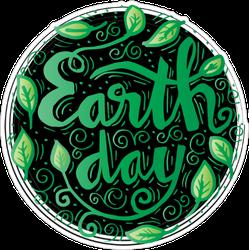 Earth Day Concept Sticker