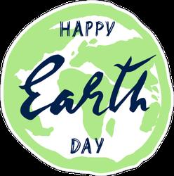 Earth Day Handwritten Sticker