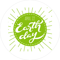 Earth Day Hipster Style Sticker