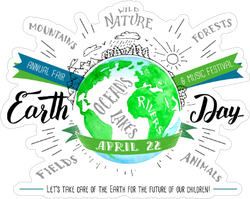 Earth Day Holiday Flyer Sticker