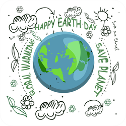 Earth Day Illustration Sticker