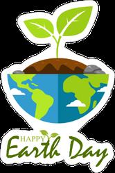 Earth Day Plant Sticker