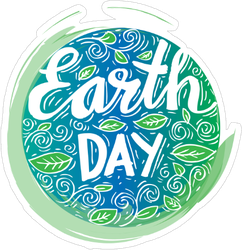 Earth Day Poster Sticker