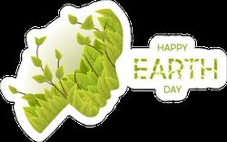 Earth Day Woman Sticker