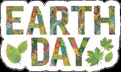 Earth Day  Zentangle Sticker