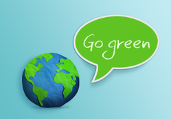 Earth Saying Go Green Sticker