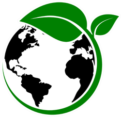 Earth With Green Plant Sticker