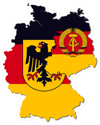 East Germany & West Germany Flags In Country Sticker